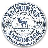 2 x 30cm アンカレッジアラスカ - ノートPCやタブレット用ビニールステッカー #4544