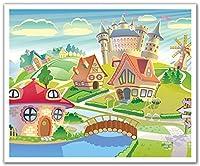 JPロンドンピールアンドスティックリムーバブルウォールステッカーシール壁画、Crazy Cartoon Village Friends、24 by 19.75インチ