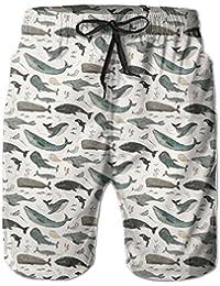 メンズ 水着クジラ サメ イルカ 男性スポツパンツボードショーツ 通気速乾