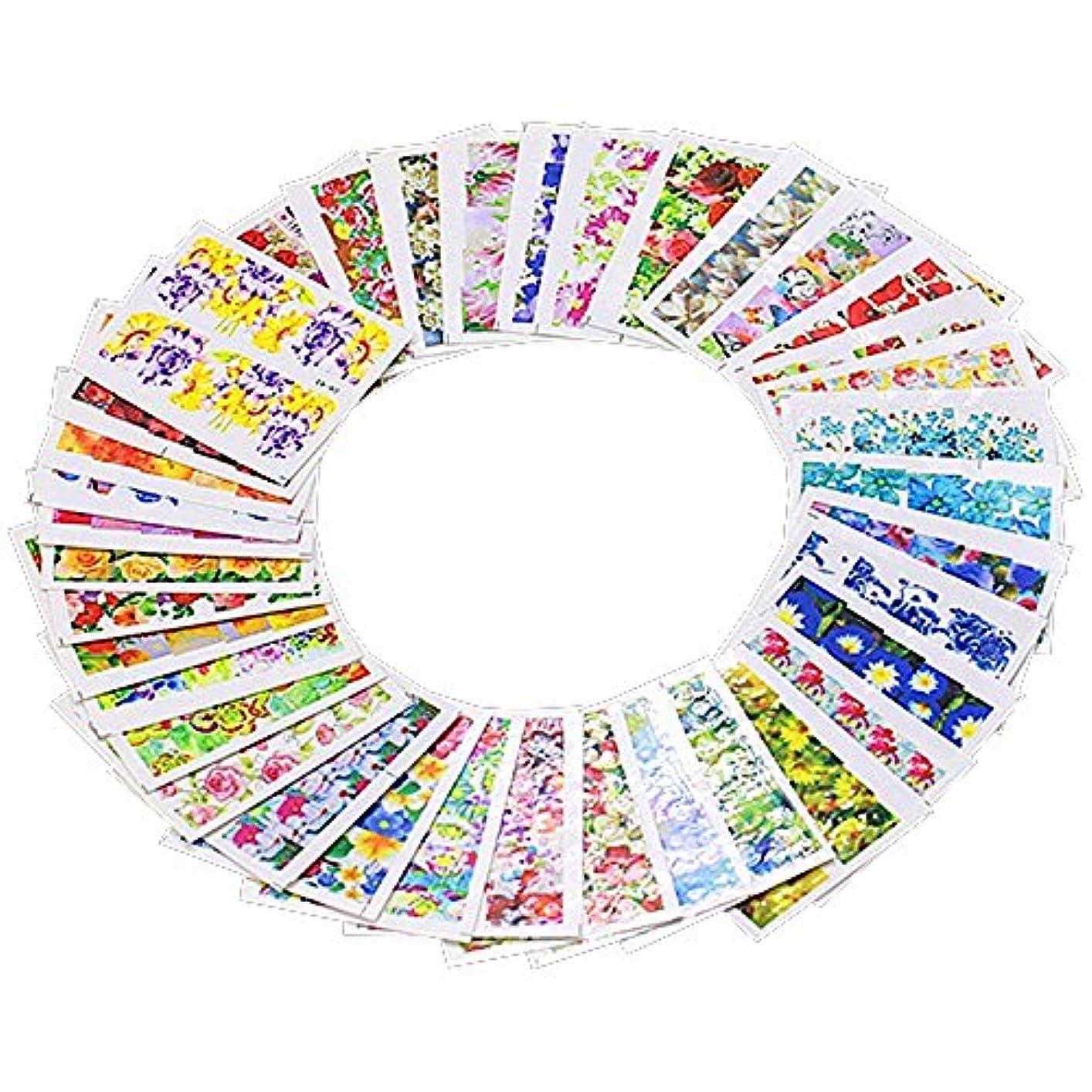 免疫する先にと遊ぶTOOGOO 50枚 ウォーターマークステッカー DIYネイルアートチップ マニキュアデカール ミックスカラー
