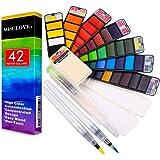 Watercolour Paint Art Set - 42 Vibrant Colours, Travel Portable Pocket Watercolours Kit, for Kids Adults and Professionals Pa