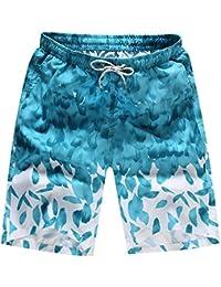 (ビンロ)BINRO メンズ 水着 海水パンツ 五分パンツ サーフパンツ 短パン 速乾 プリント花柄