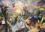 西洋絵画 ディズニー 美女と野獣 42x30cm トーマスキンケード Beauty and the Beast [並行輸入品]