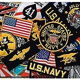 ミリタリーワッペン 刺繍パッチ アメリカ海軍 多目おまかせ 12枚セット