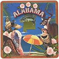 "CoasterStone SQ019 Absorbent Coasters, 11cm,""Alabama"", Set of 4"