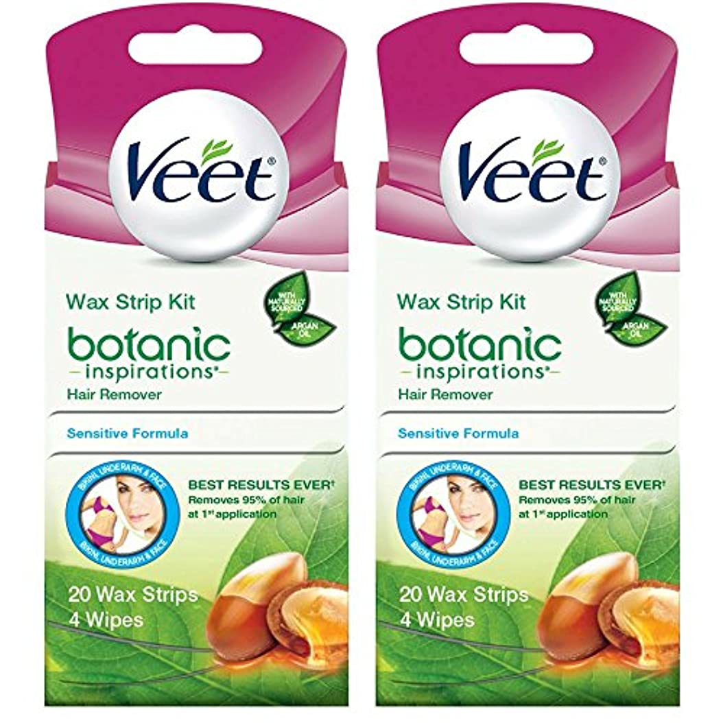 許すドロップソース海外直送品 2箱 Veet Ready to Use Wax Strips Hair Remover for Body, & Face - 20 回分