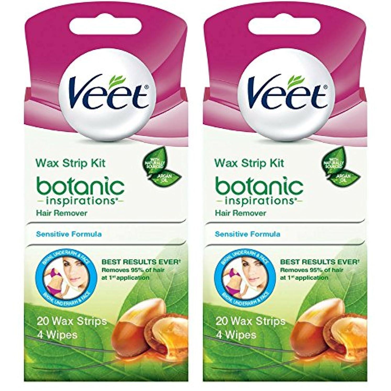 作成者高さ凶暴な海外直送品 2箱 Veet Ready to Use Wax Strips Hair Remover for Body, & Face - 20 回分