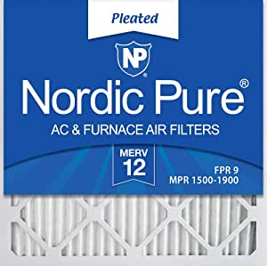 Nordic Pure 22x22x1 MERV 10 Pleated AC Furnace Air Filters 4 Pack