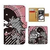 (ティアラ) Tiara Disney Mobile on docomo DM-01H スマホケース 手帳型 サーフ 手帳ケース カバー サーフィン ボード SURF 海 F0169010084603