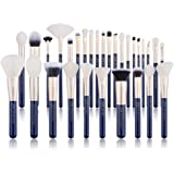 Jessup Brush Set Make up Brushes Powder Brush Face Lip Make-up Brush Professional Beauty Brush Tools&Kits 30 Pcs Prussian Blu