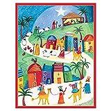 Caspari スリーワイズ メンズ ボックス入り クリスマス グリーティングカード Set of 32 マルチカラー