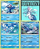 Pokémon – primarina Brionne popplio Sun & Moon Evolution Line Set Lot – Rare – Plus Bonus onlinceコードカード