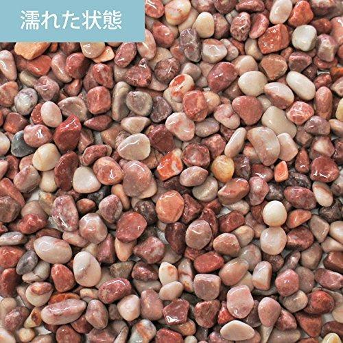 小さな砂利 クランベリー 紫 玉砂利 大理石 約9mm 10kg