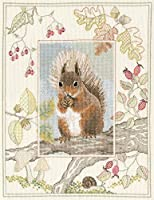 Bothythreads ボシースレッズ Wildlife-Red Squirrel ワイルドライフ-レッドスクウォロー 野生動物-赤いリス WIL4 日本語解説書付き 【正規輸入品】 クロスステッチ キット 【日本代理店品】