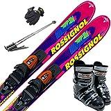 ROSSIGNOL スキー5点セット 12-13 SUPER VIRAGE 120cm ゼロワン-26cm/ストック115cm/メンズグローブ