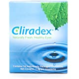 Cliradex Natural Eyelid, Eyelash, and Facial Cleansing Towelettes, Box of 24