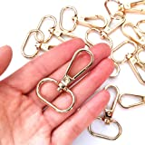 """15 Pcs 3/4"""" or 1"""" Inside Diameter Oval Ring Lobster Clasp Claw Swivel for Strap Push Gate Lobster Clasps Hooks Swivel Snap Fa"""
