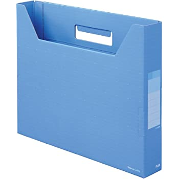 プラス ボックスファイル スリム A4横 背幅50mm デジャヴ 87-611 スカイブルー