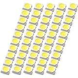 INEX LEDチップ SMD 3528 ホワイト 白発光 50個 打ち替え 打ち換え DIY 自作 エアコンパネル メーターパネル スイッチ