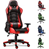 ALFORDSON Gaming Chair Racing Chair Executive Sport Office Chair PU Leather Armrest Headrest Home Chair (Regan Red)