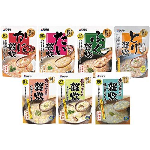 シマヤ 国産米100% 使用 雑炊 7種セット(1食×7種類) 1663g