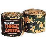 [ THREE ARMS ] ボクシング バンテージ グローブ (2個セット / 450cm) 伸縮 タイプ