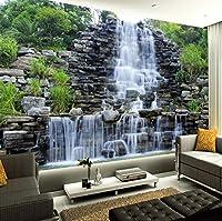 カスタム3D壁画壁紙水流れる滝自然風景壁絵画アート壁画壁紙リビングルームの寝室の装飾-420X280Cm