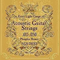 ARIA アリア Acoustic Guitar フォークギター弦 Extra Light エクストラライト フォスファーブロンズ AGS-200XL