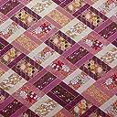 【定番 和柄 和調プリント】金粉菱形文様 4色あります 1m単位で切り売りいたします (紫)