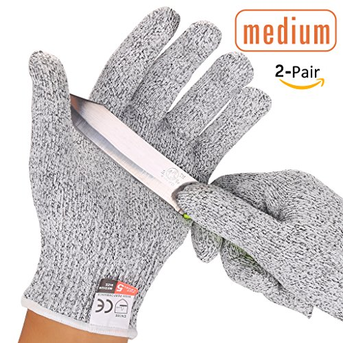 耐切創手袋Vilcome防刃手袋軍手作業用手袋作業グローブ 耐切創レベル5耐摩耗性 耐摩耗レベル4~6 2双組