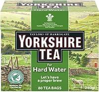 Yorkshire Tea (Hard Water) (ヨークシャーティー 硬水用 80袋)- 80 Bags / 250g【海外直送品】【並行輸入品】