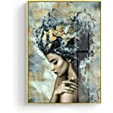 Modern Marble Girl Posters and Prints Wall Art Canvas Painting Picture Home Decoration for Living Room Decorative,20x25cm
