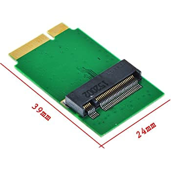 M.2 NGFF 2280 SATA SSD → APPLE 2012 Macbook air A1466 A1465 MD223 MD224 MD231 MD232 64G 128G 256G SSD 変換アダプター