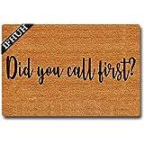 IFHUH Did You Call First Doormat Funny Welcome Mat Front Door Mat Rubber Non Slip Backing Funny Doormat Indoor Outdoor Rug 23