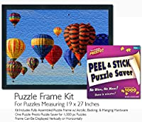 (19 x 27 Puzzle Frame Kit) - Jigsaw Puzzle Frame Kit - Made To Display Puzzles Measuring 48cm x 70cm