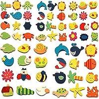 [オーシュ]AUCH 48pcs Assorted Color Wooden Magnetic Fun Bright Colorful Preschool Toddler Toy Color and Shapes Learning [並行輸入品]