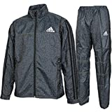 adidas アディダス ジュニア デニム風 裏起毛 ウィンドブレーカー ジャケット パンツ 上下 DUV91 CG1882 DUV92 CG1885 ブラック (150)