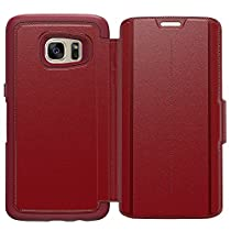 OtterBox Samsung Galaxy S7 edgeケース Leather Folio シリーズ 耐衝撃 Ruby Romance (Flame/Flame/Flame Leather) 【日本正規代理店品】