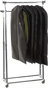 [RATOM] 洋服カバー 衣類カバー サイドファスナーで使いやすい(105*60:スーツサイズ5枚)