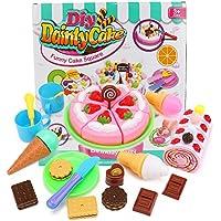 Wishtime おままごと ロールケーキ 豪華セット キッズ 可愛い 知育 おもちゃ マグネット ごっこ遊び