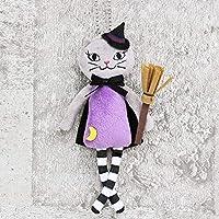 KALDI(カルディ)ハロウィンくたくたネコちゃん マスコット ぬいぐるみ (魔女?グレー)