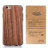 TaoTech iPhone6 plus 6s plus 5.5インチ 対応 高級 天然木製 薄型 木目 木製 木調 シリコン iPhone木製 ケース