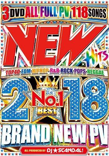 【洋楽DVD】時代の最先端!早すぎてごめんなさい!2018年最新曲! New Hits 2018 No.1 Best - DJ☆Scandal! 【国内盤】【3枚組】