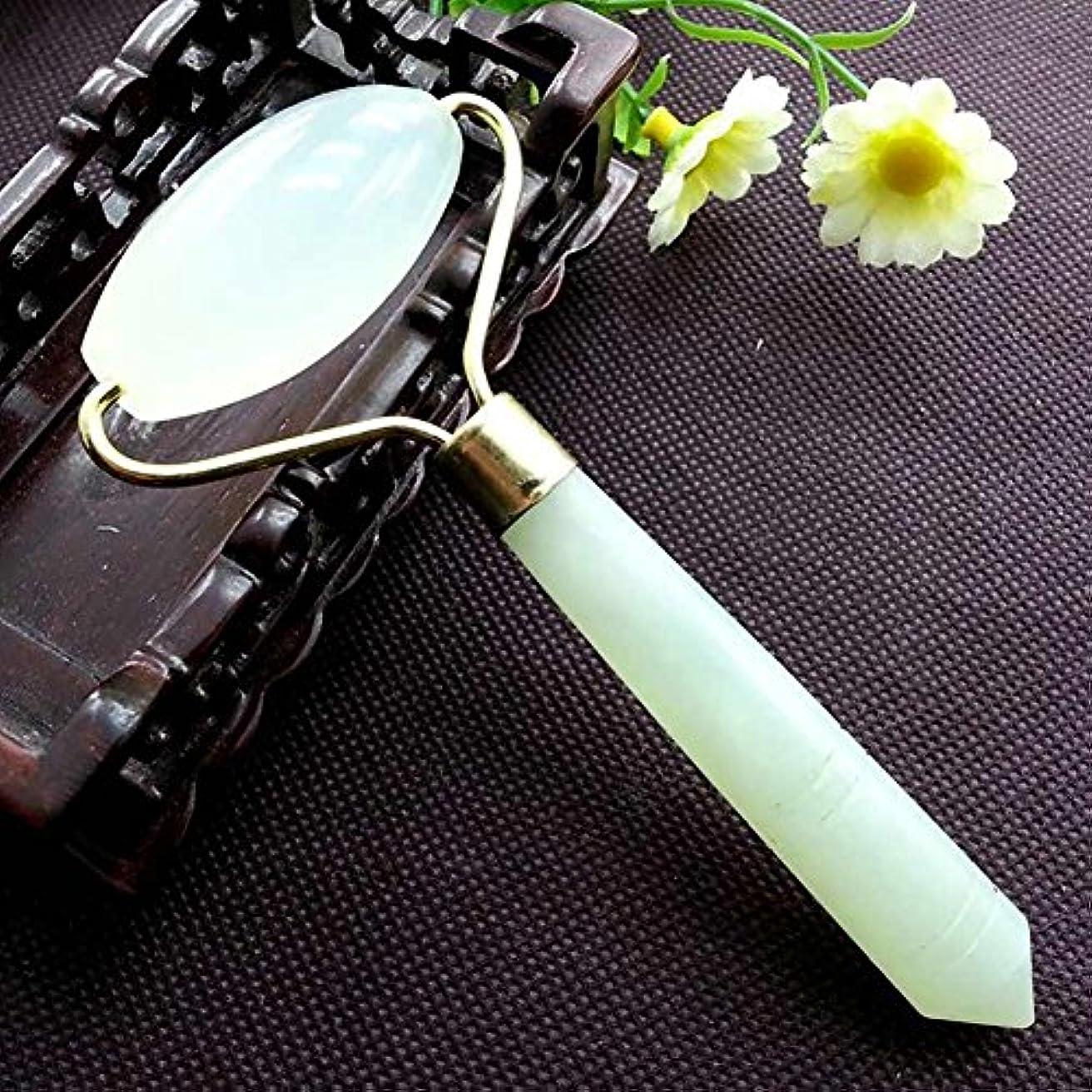 かかわらず鏡傘TINYPONY 玉マッサージローラー ポータブル フェイス美容ツール 美顔器 フェイスケア 美顔マッサージローラー  天然石