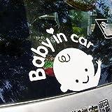 Amazon.co.jpセーフティーサイン/Baby in Car セーフティ反射ステッカー 赤ちゃん
