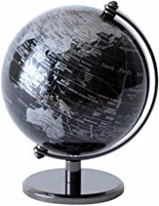 インテリア地球儀 英語表記 書斎 オシャレ 知的 大人のインテリア ブラック 〔小〕