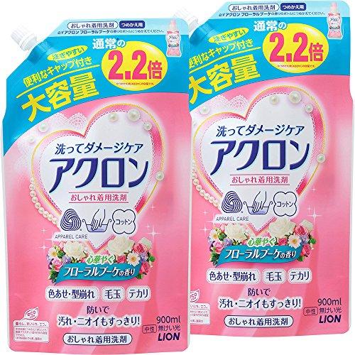 アクロン おしゃれ着洗剤 フローラルブーケの香り 詰め替え 900ml×2個パック