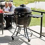 カマドバーベキューグリル 直径 61 cm 高温や長時間調理が可能 セラミック製 レシピ付き BBQ グリル 炭火 オーブン 燻製 釜
