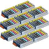 【70本セット!】【顔料ブラックもう1本追加!】キヤノン用 互換インクタンク BCI-351XL(BK/C/M/Y/G)+BCI-350XL 6色増量マルチパック+顔料ブラック1個セット×10パック  対応機種: PIXUS MG7130/PIXUS MG6530/PIXUS MG6330/MG3570 インクのチップス【JAN:4582480214130】