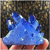 (イスイ)YISHUI ナチュラル サイコロ 水晶クラスター 原石 置物 ディゴース 浄化 パワーストーン (ブルー)